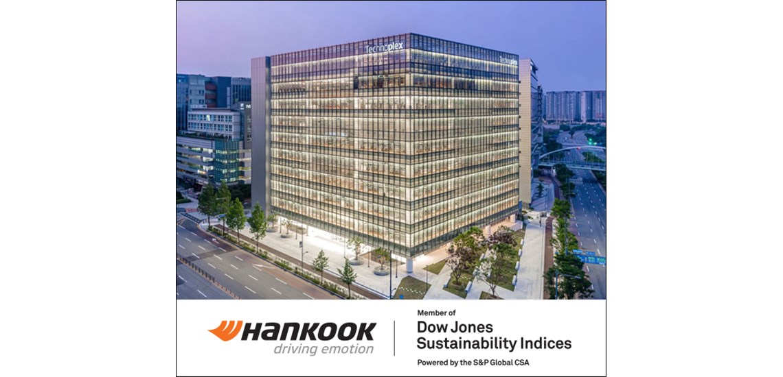 Hankook Listed in DJSI World